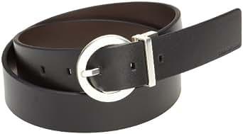 Calvin Klein Women's Basic Reversible Belt,Black/ Brown,Small