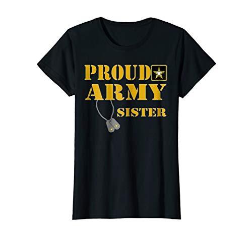 U.S. ARMY Proud US Army Sister Shirt Military Pride T-Shirt