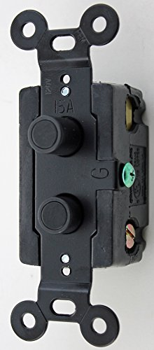 Push Button Light Switchplates (Classic Accents Three Way Black Button Antique Push Button Light Switch)