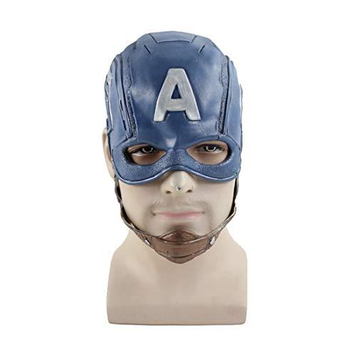Super Hero Captain Classic Latex Mask Performance