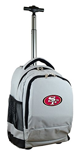 Expedition Travel Bag (Denco NFL San Francisco 49ers Expedition Wheeled Backpack, 19-inches, Grey)