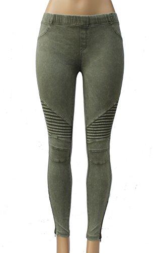Womens Moto Jeans - 4