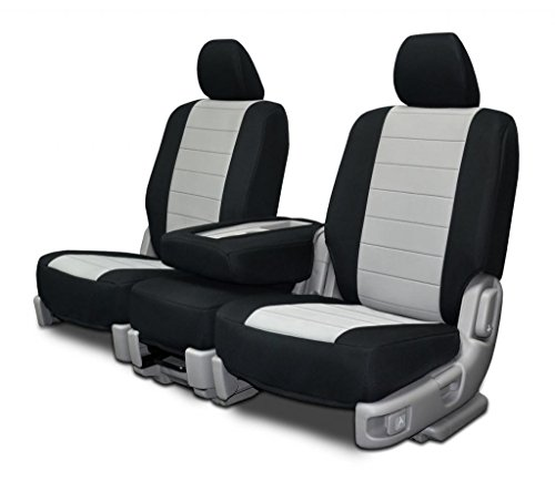 Custom Fit Seats Covers - Toyota Tundra 40/20/40 Seats - Silver Neoprene Fabric by Seat Covers Unlimited