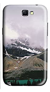 Samsung Note 2 Case landscapes nature snow lake 21 3D Custom Samsung Note 2 Case Cover
