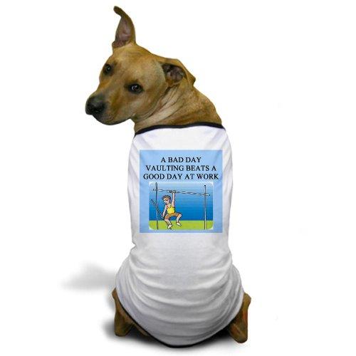 CafePress pole vaulting Dog T-Shirt - 2XL White [Misc.]