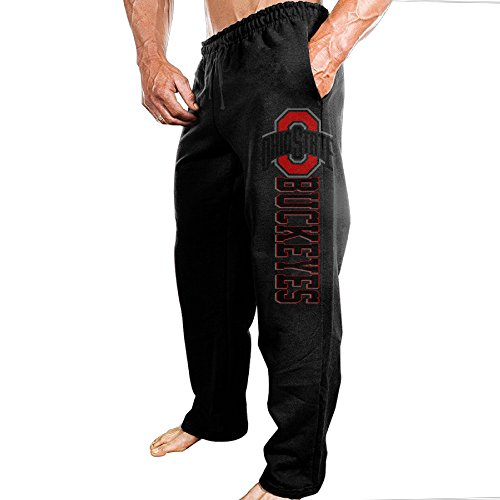 Men's Ohio State Buckeyes 100% Cotton Sweatpants Black Size XL
