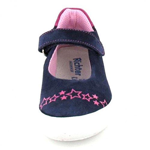 Richter Spangenballerina, Farbe: blau/rosa