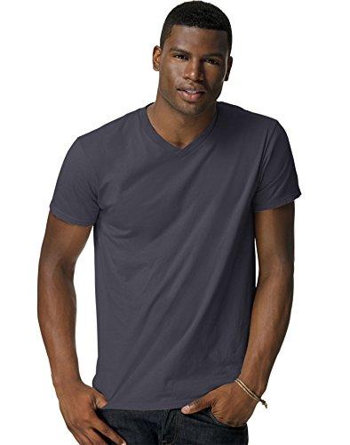 Hanes 4.5 oz., 100% Ringspun Cotton nano-T V-Neck T-Shirt, Large, VINTAGE (Era Vintage Jersey)