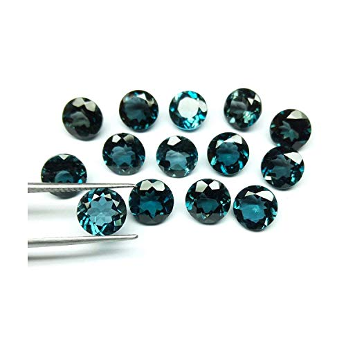 Neerupam 컬렉션 천연 런던 블루 토 파 즈 AAA 품질 4.5 mm 라운드 형 루스 보석 석재 천연 런던 블루 토 파 즈 보석 보석 제작에 100 pieces lot 블루 NC-FR-AAA-LONDBT-4 .5-4 / Neerupam Collection Natural London Blue Topaz AAA Quality 4.5mm...
