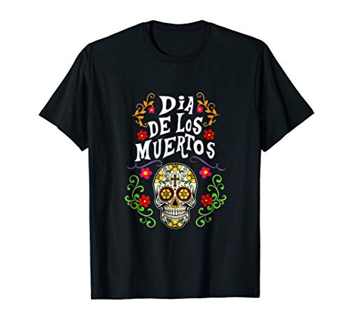 Halloween Sugar Skull Costume Idea Shirt for Day T-Shirt