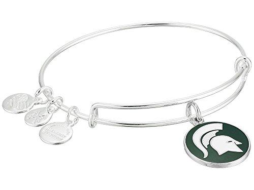 Alex and Ani Women's Color Infusion Michigan State University Logo II EWB Bracelet, Shiny Silver