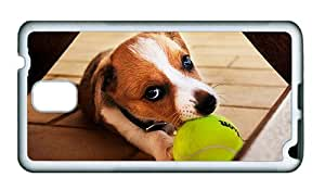 Sale carry Samsung N9000 covers I retrieve the ball the dog close up TPU White for Samsung Note 3/Samsung N9000