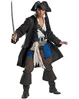 Disguise Men's Capt Jack Sparrow Prestige Premium - Adult Costume