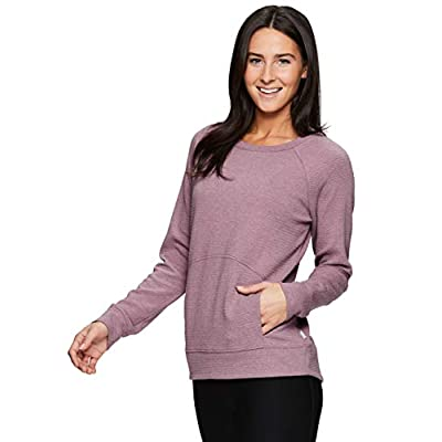 RBX Active Women's Fashion Athleisure Long Sleeve Sweater Lightweight Pullover Sweatshirt at Women's Clothing store