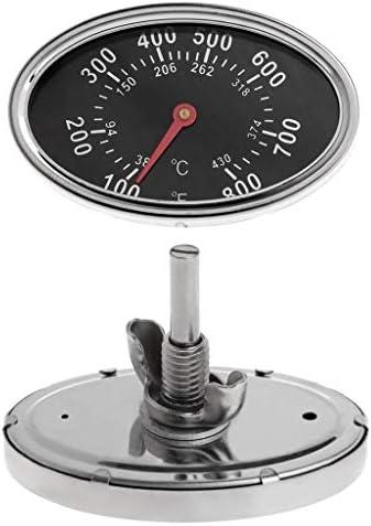 Sweo Küchen-Ofen-Thermometer, Temperaturanzeige, Thermometer Zifferblatt Ersatz für BBQ Pit Smoker Grill Fleisch Kochen 800°F