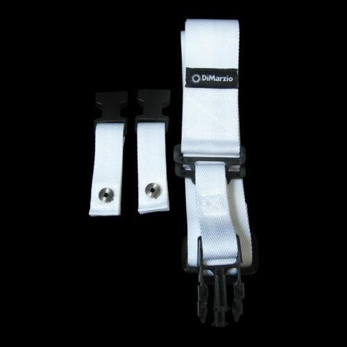DiMarzio ClipLock DD2200 Strap - White Nylon