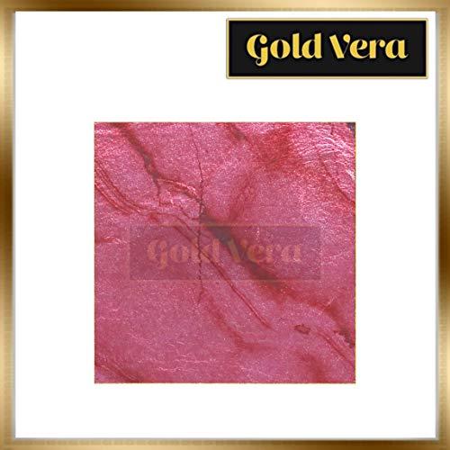 Marble Rose Pink Color Genuine Silver Leaf - 5 Sheets for Arts, Gilding, Crafting, Decoration, DIY