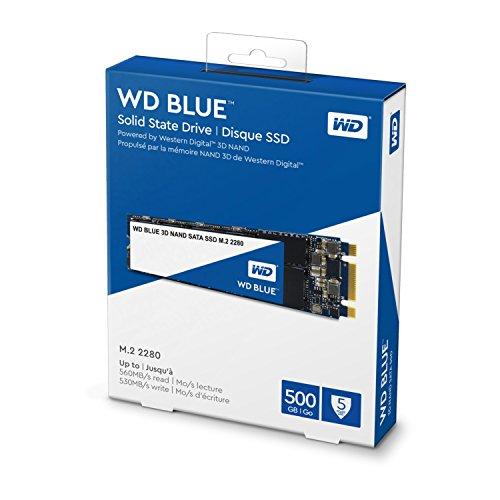 WD Blue 3D NAND 500GB PC SSD - SATA III 6 Gb/s, M.2 2280 - WDS500G2B0B by Western Digital (Image #2)