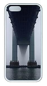 iPhone 5 5S Case Verrazano Bridge TPU Custom iPhone 5 5S Case Cover White