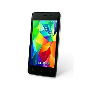 "SLIDE Dual SIM 4"" Android 5.1 Unlocked Smartphone, Quad Core 1.3GHz Processor, 8GB Storage, Worldwide 3G GSM Coverage- White (SP4013)"