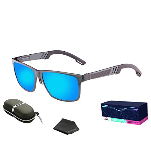 AFARER Sports Sunglasses Polarized for Men Women Driving Running Fishing Golf Cycling Hiking Climbing Goggles Metal Frame grey - Online Test Polarized Sunglasses