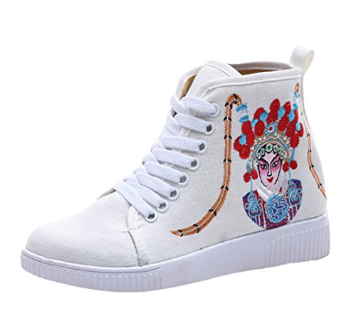 High Ricamato Sneakers Icegrey A Top Scarpe Ginnastica Mano Beige Da Sneaker nqzWtwzYr