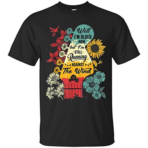 Well I'm Older Now but I'm Still Running Against The Wind Bob Seger Unisex Black T-Shirt ()