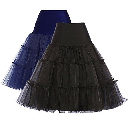 GRACE KARIN Women 50s Petticoat Skirts Tutu Crinoline Underskirt