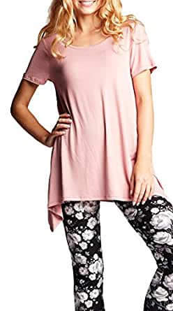 Premium Stretch Bodysuit for Women - 6 Styles - 4 Colors - by Conceited (Large, Dusty Pink)