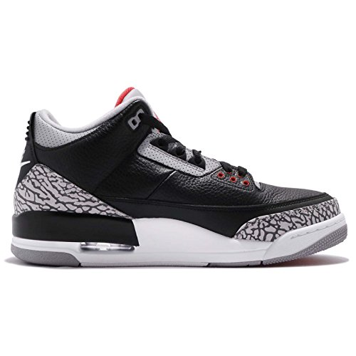 Nike Hombres Air Jordan 3 Retro Og Negro CeHombresto Negro / CeHombresto Cuero Tamaño 15