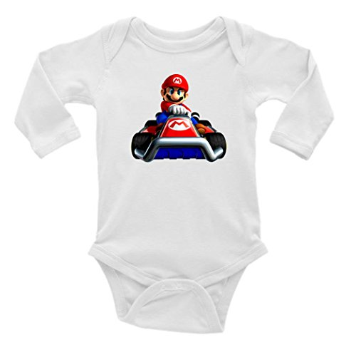 Mario Kart Long Sleeve Unisex Onesie (6-9) -