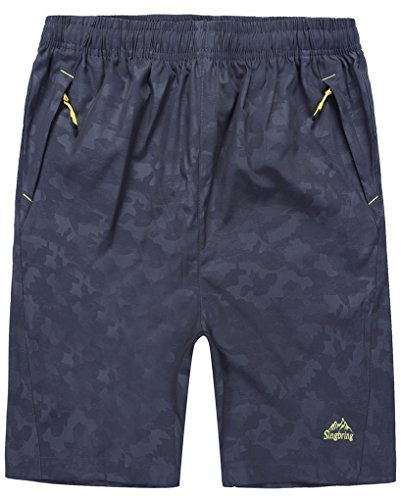 Binhome Mens Outdoor Quick Drying Printed Hiking & Camping Shorts(326)