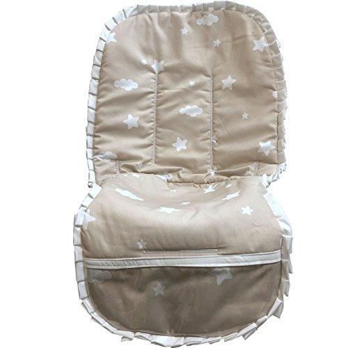 colchoneta bebe silla estrellas beige: Amazon.es: Handmade