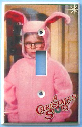 A Christmas Story Ralphie Pink Bunny Suit Switch Plate Switchplate #1