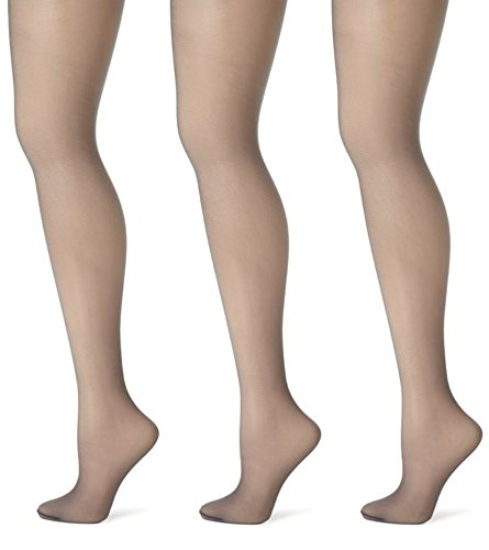 Butterfly Hosiery Women's Ladies Plus Size Queen Day Sheer Pantyhose Tights Stockings 3-Pack Off Black 5X