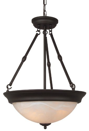 Craftmade Step (Craftmade X225-OB Up-Pendant with Frosted Glass Shades, Oiled Bronze Finish)