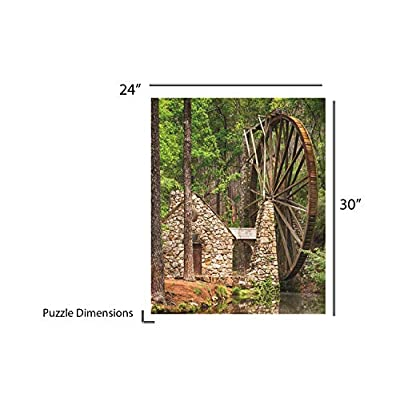 Springbok Puzzles - Water Wheel - 1000 Piece Jigsaw Puzzle - Large 30 Inches by 24 Inches Puzzle - Made in USA - Unique Cut Interlocking Pieces: Toys & Games