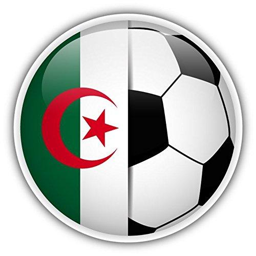 Bandera de Argelia - Balón de fútbol adhesivo para parachoques ...