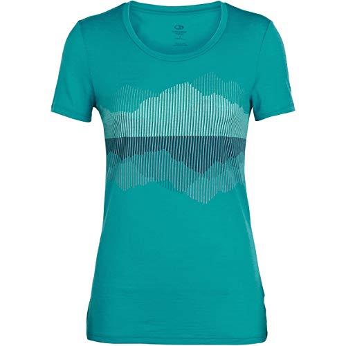 De Mujer lite Tech Para Camiseta Icebreaker Corta Merino Manga Deportiva EwzqgTPX