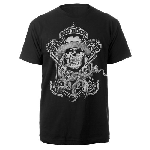 Rock's Kid Rock Rebel Snake Black T-shirt (XX-Large) - Kid Rock Merchandise