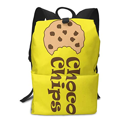 (Travel Backpack Business Daypack School Bag Chocolate Chip Cookies Large Compartment College Computer Bag Casual Rucksack For Women Men Hiking Camping Outdoor)