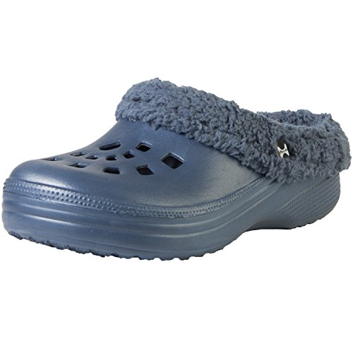 5d024f709cdb free shipping Hounds Women s Fleece Clogs Navy Indoor Outdoor Fluffy  Slippers 5-6 B(