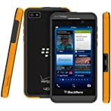 Poetic Borderline Bumper Case for RIM Blackbery Z10 Smartphone (AT&T, T-Mobile, Sprint, Verizon) Yellow/Gray (3 Year Manufacturer Warranty From Poetic)