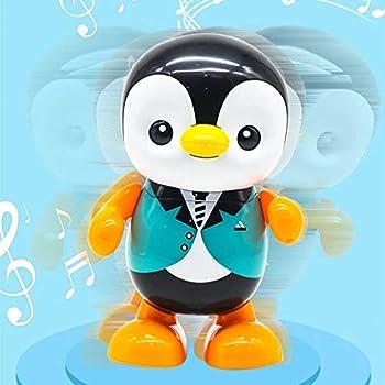 لعبة البطريق الكهربائي الراقص بالصمام الثنائي الباعث للضوء من