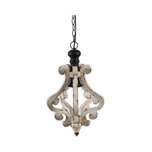 wood bead chandelier - 3