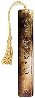 product image for Personalized Neil Gaiman - Book Quote and Color Photograph by Mike DeCesare, Wooden Bookmark with Tassel - Search B01G448YRG for Non-Personalized Version