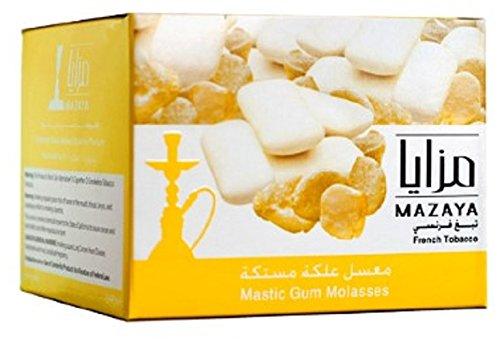 Mazaya Shisha Molasses Premium Flavors 250g For Hookah NonTobacco (Mastic Gum)