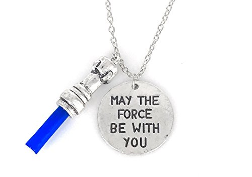 Star Wars The Last Jedi  May The Force Be With You With Blue Light Saber