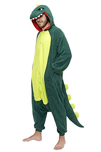 [Onesie - Dinosaur - Adult Animal Costume Pajamas - Large/X-Large by FunNFurry] (Pajamas Dance Costumes)