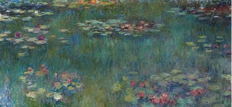 Oil Painting 'Claude Monet-Water Lilies,19th Century', 30 x 65 inch / 76 x 164 cm , on High Definition HD canvas prints is for Gifts And Garage, Kitchen And Study Room Decoration, diy